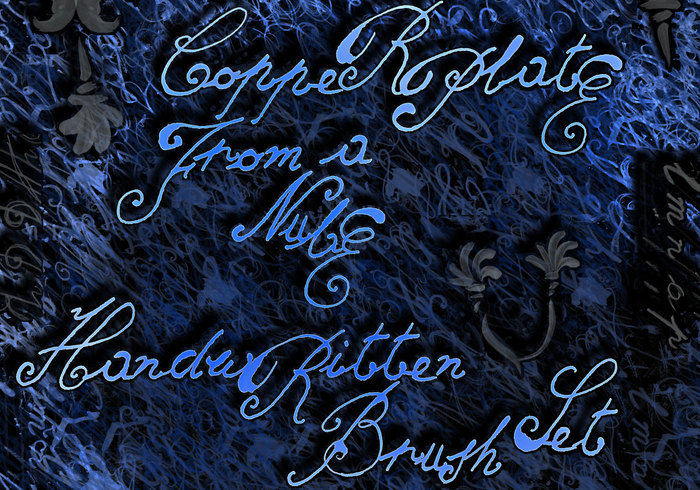 Copperplate from a Nube handwritten brush set