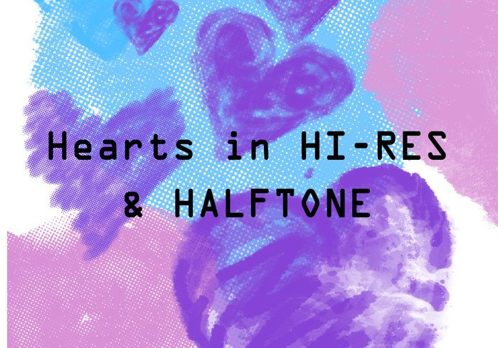 Hjärtan HI-RES & HalfTone
