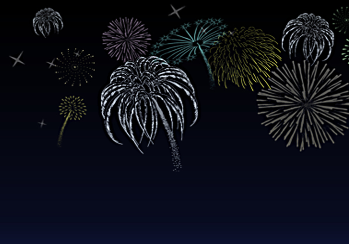 Fire works brushes