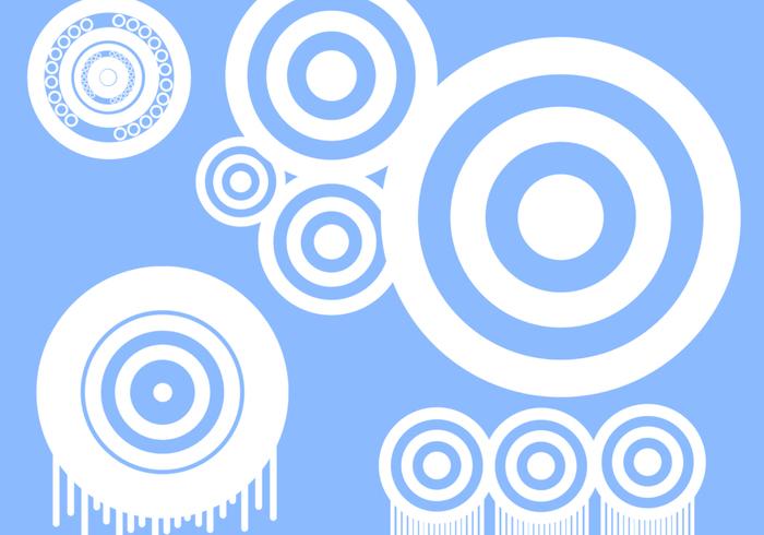 Pacote de pincel circulares