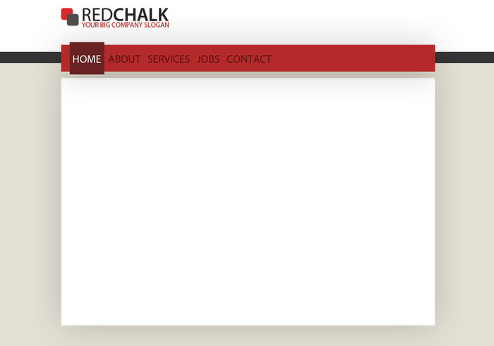 Red Chalk - Template do site