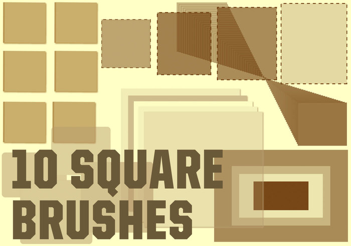 square brush photoshop