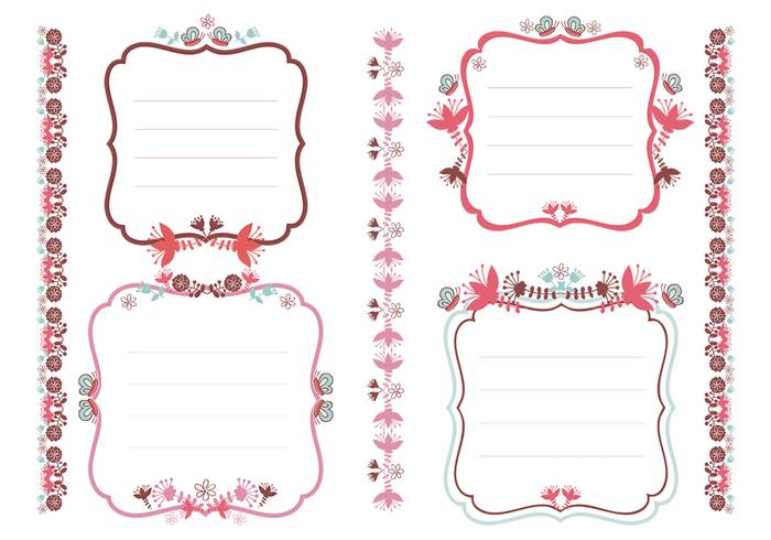 Floral Tags and Borders Brush Pack