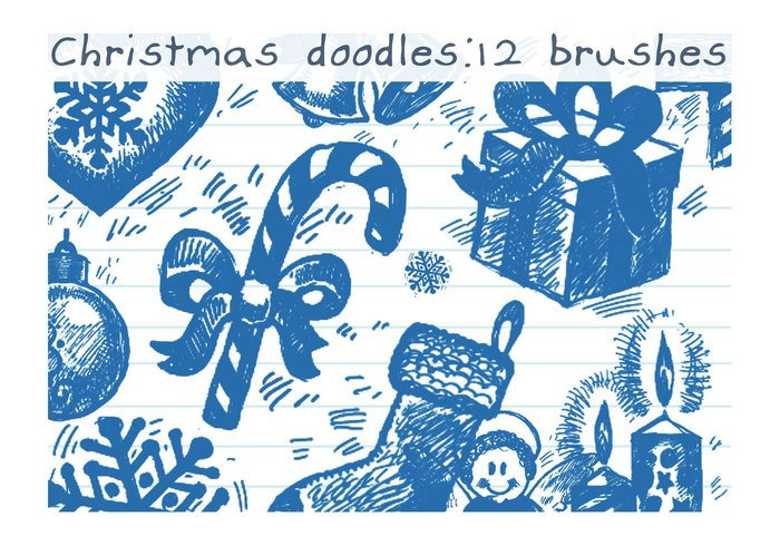 Christmas Brush Doodles