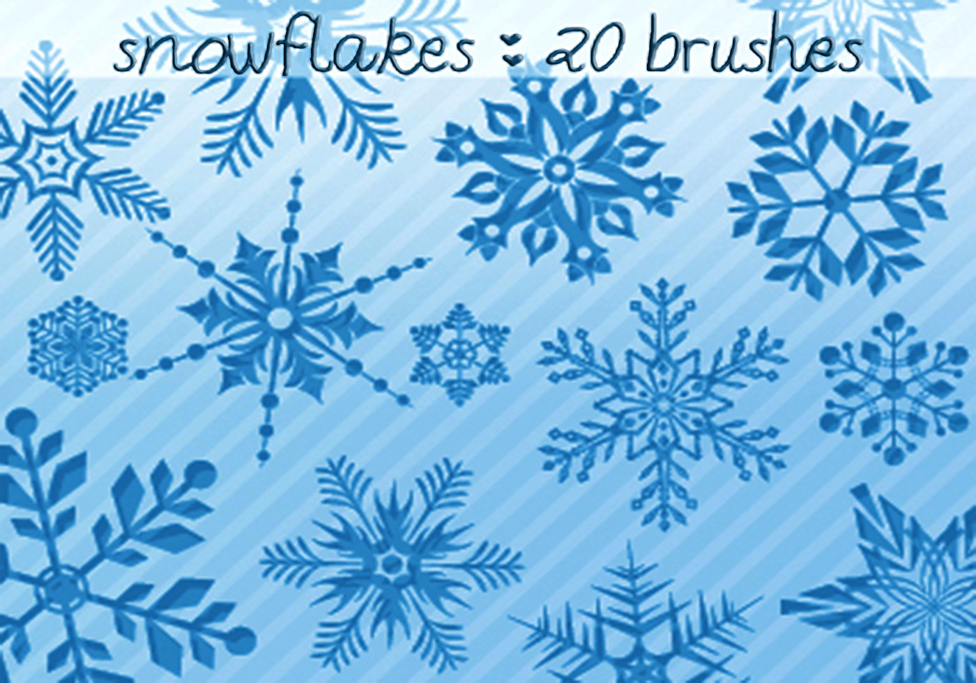 Falling Snow And Snowflakes Photoshop Brushes For Free ...