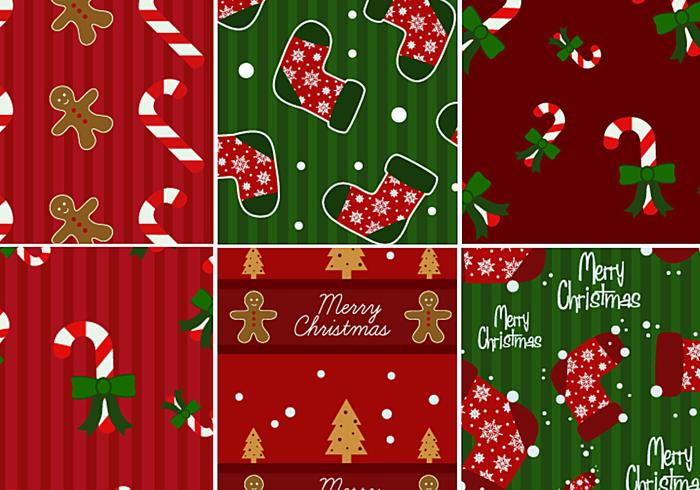 Paquet de motifs Candy Cane & Gingerbread Photoshop Pattern