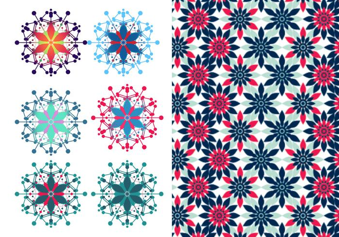 Festliche Blumenbürste & Photoshop Pattern Pack