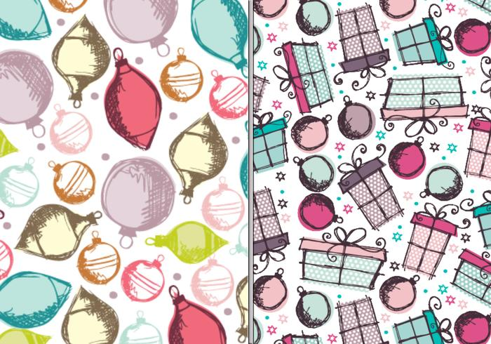 Ornements et cadeaux Pack Photoshop Pattern Pack