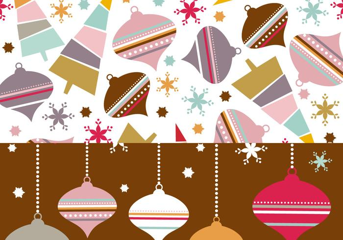 Retro Christmas Ornament Photoshop Pattern Wallpaper