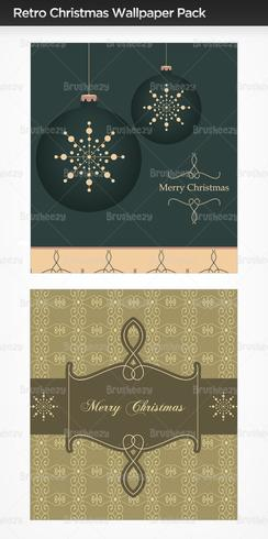 Retro Christmas Photoshop Wallpaper Pack