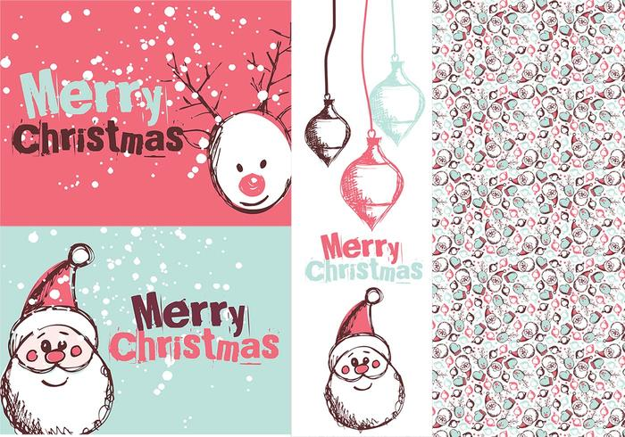 Santa Tag Borstels & Photoshop Patroon