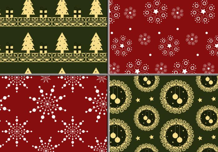 Holiday Wreath en Tree Photoshop Pattern Pack