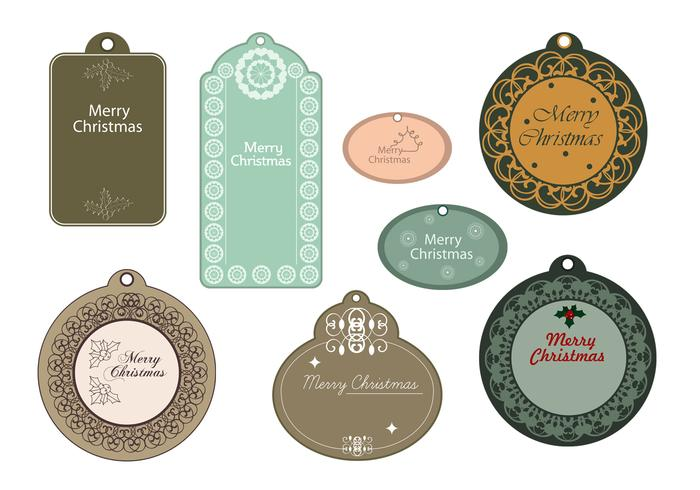 Elegant Merry Christmas Tag Brush Pack