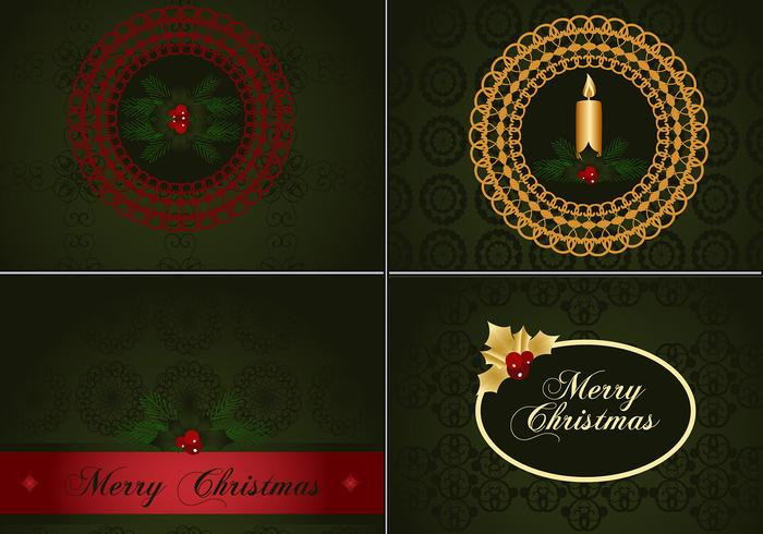 Deep Green Christmas Photoshop Wallpapers