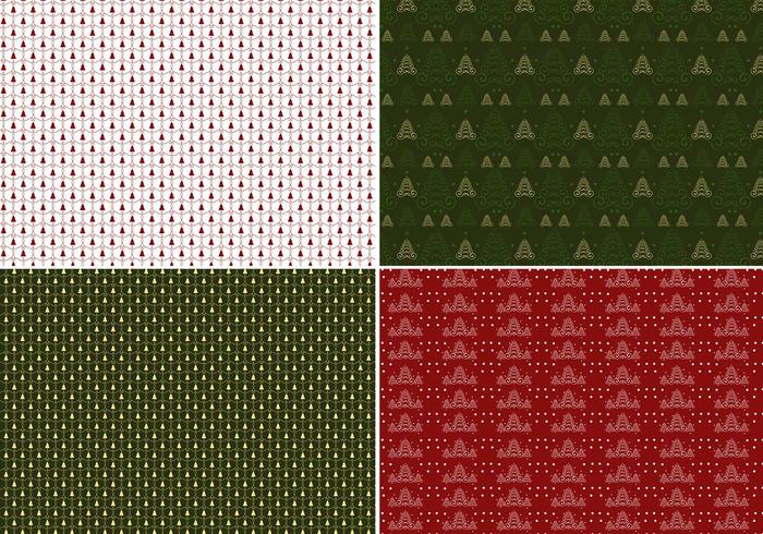 Julgran Photoshop Pattern Pack