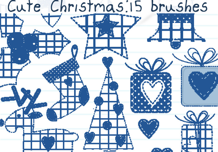 Cute Christmas Brushes