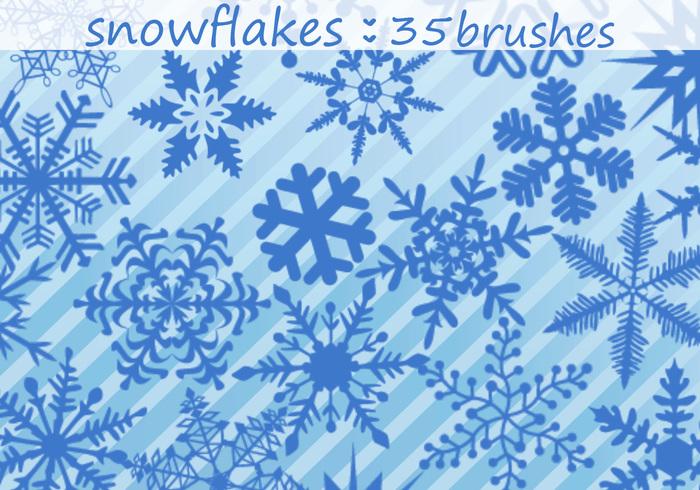 Escovas de flocos de neve