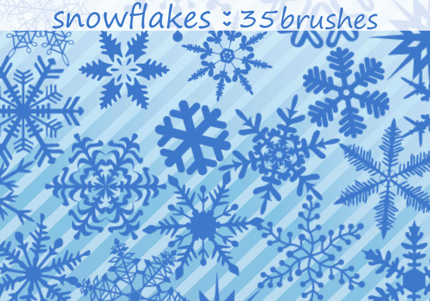 Realistic Dynamic Snowflakes Snow Brushes for Photoshop ...