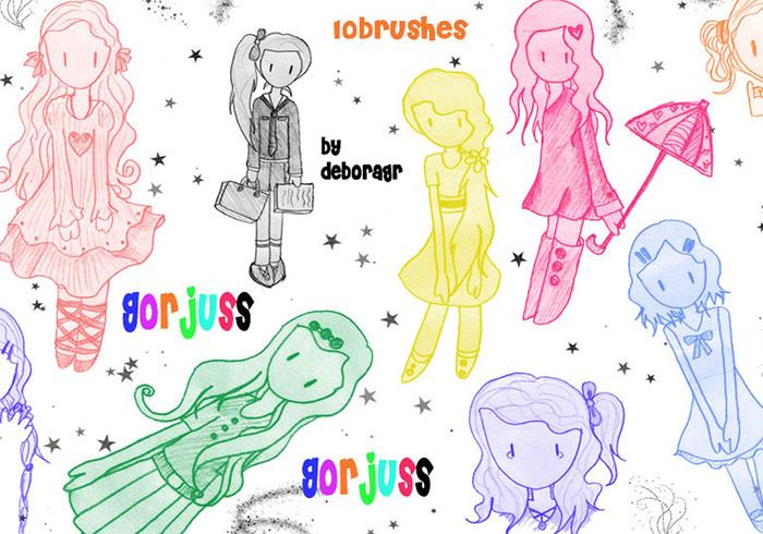 Gorjuss Art Style Brushes ( My version ) 2