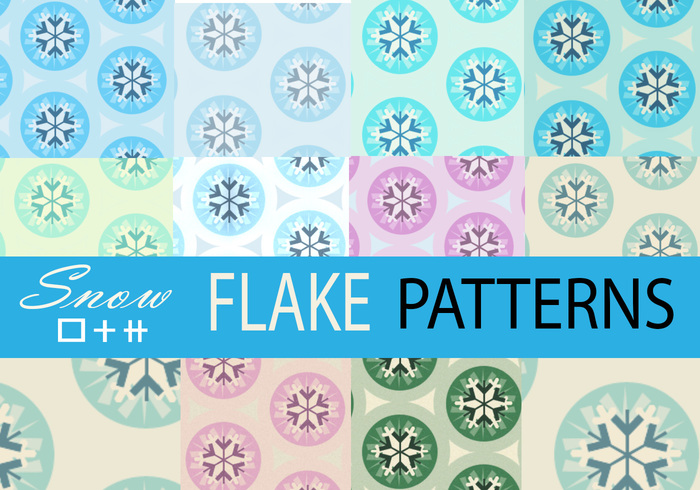 Deluxive Snow Flakes Tile Patterns