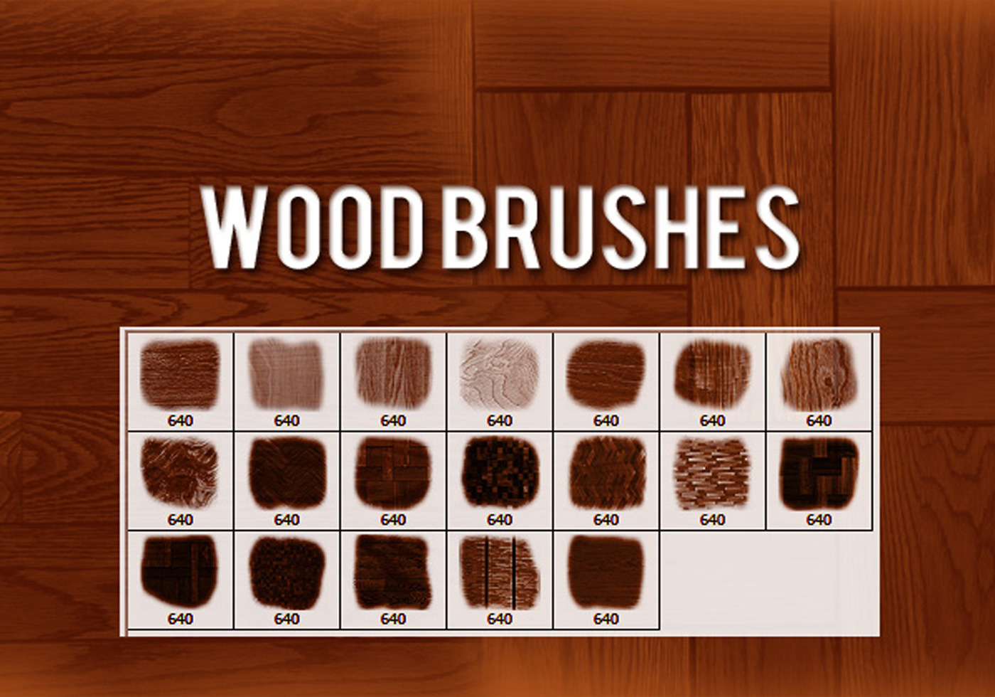 brushes wood