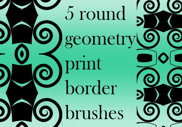 5 round geometry border brushes