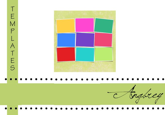 Bright & Colorful 9 image template