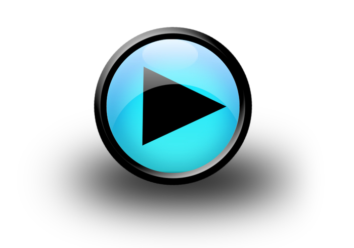 Svart media player windows 7 play-knapp