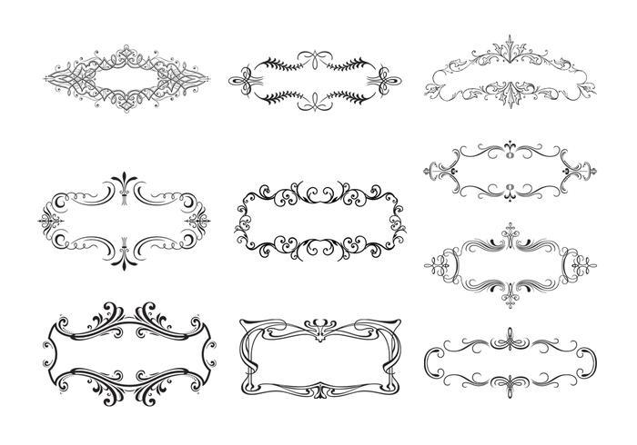 10 Bloemen Ornamentale Bannerborstels