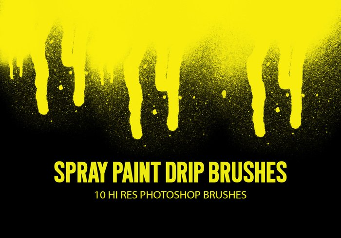 Free Spray Paint Drip Brushes From Brusheezy!