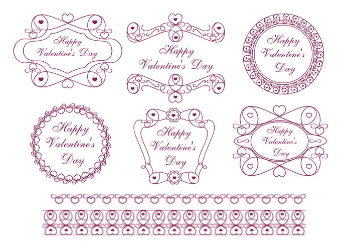 Happy Valentine's Day Label Brush Pack