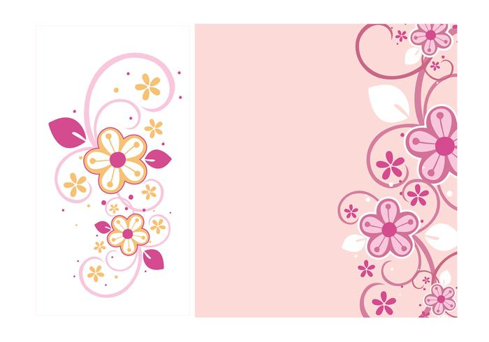 Floral Wervelingen Wallpaper and Brush Pack