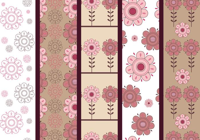 Pink and Brown Floral Photoshop Patterns