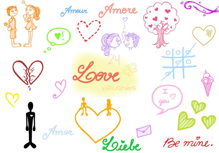 . Doodle de amor.