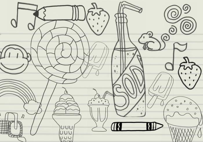 Doodles aleatórios Set 1
