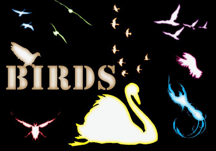 Fåglar former