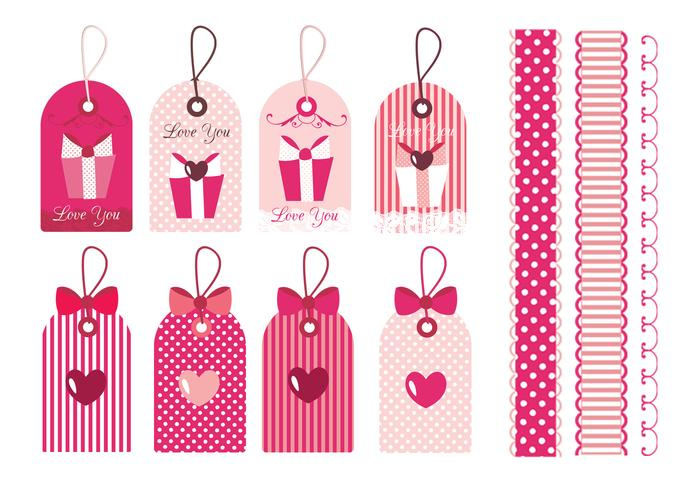 Valentine's Day Tags & Borders Brushes