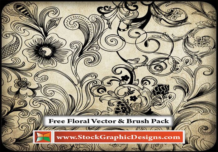Free Floral Brush Pack - Free Photoshop Brushes at Brusheezy!