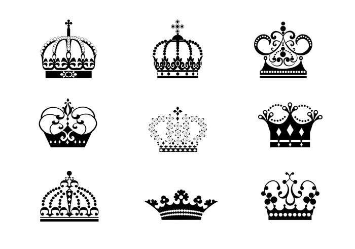 9 Detailed Crowns Brushes