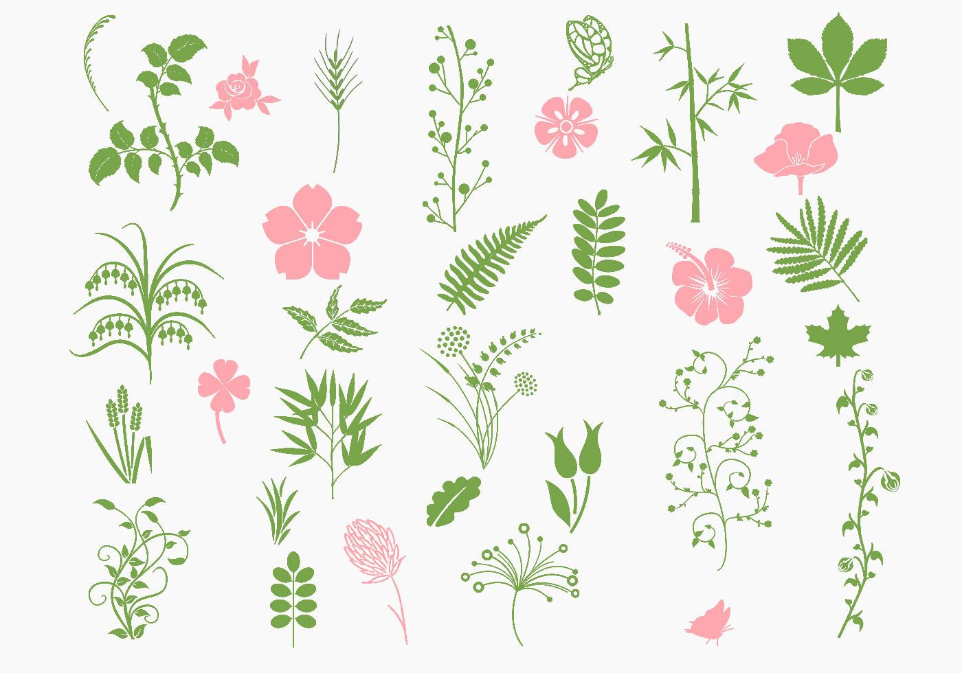 Pink And Green Organic Brush Pack Free Photoshop Brushes At Brusheezy