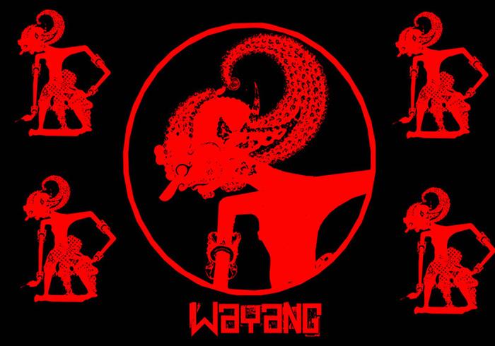 Wayang escova indonésia