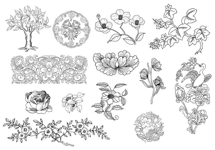 Earthy Ornament Brush Pack