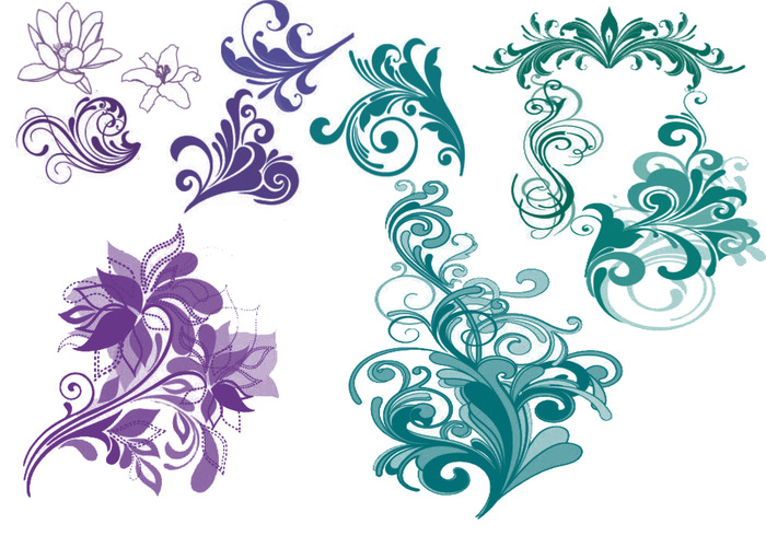 pretty designs free photoshop brushes at brusheezy