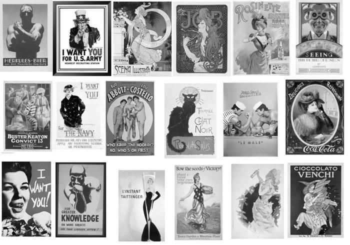 Pincéis vintage do cartaz