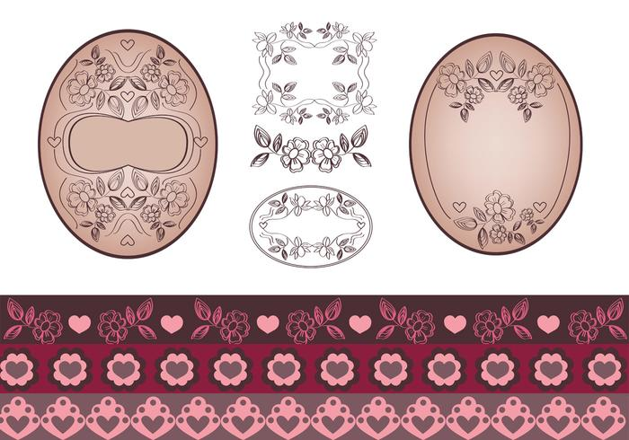 Floral Tag and Border Brush Pack