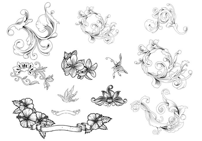 Ornamental Flourish Brush Pack