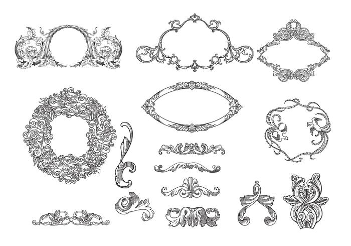 Etched Frames & Ornament Brush Pack - Free Photoshop Brushes at ...