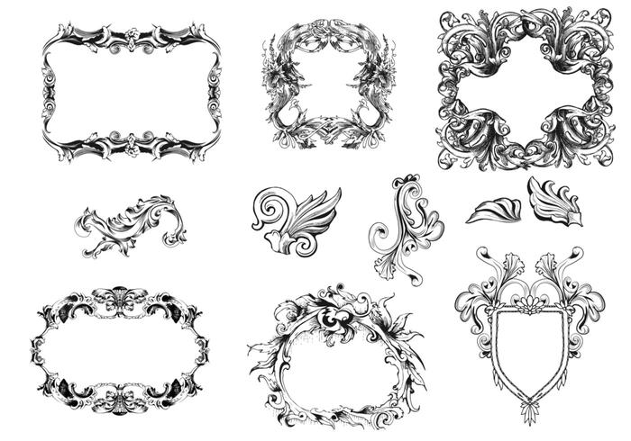Victoriaanse Frames Brush Pack