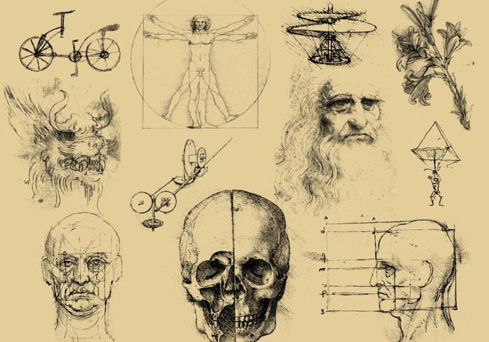 Random Da Vinci Sketch Brushes