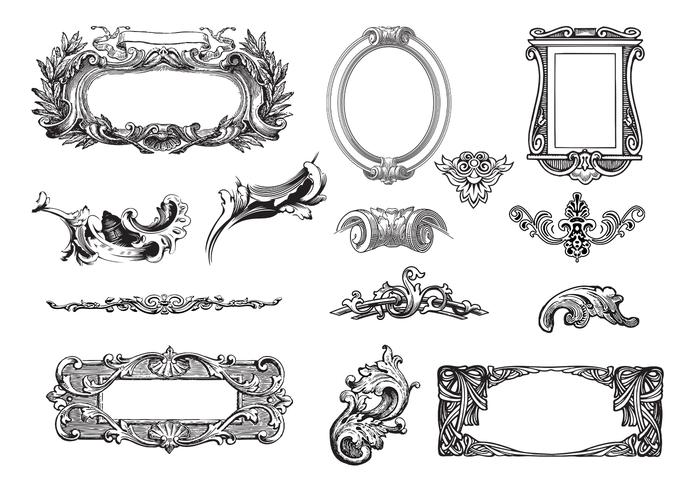 Decoratieve Frames Brush Pack